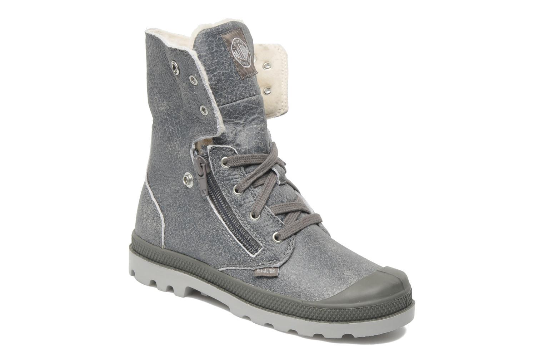 Bottines et boots Palladium Baggy Leather K Gris vue 3/4
