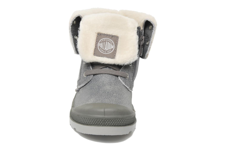 Bottines et boots Palladium Baggy Leather K Gris vue portées chaussures