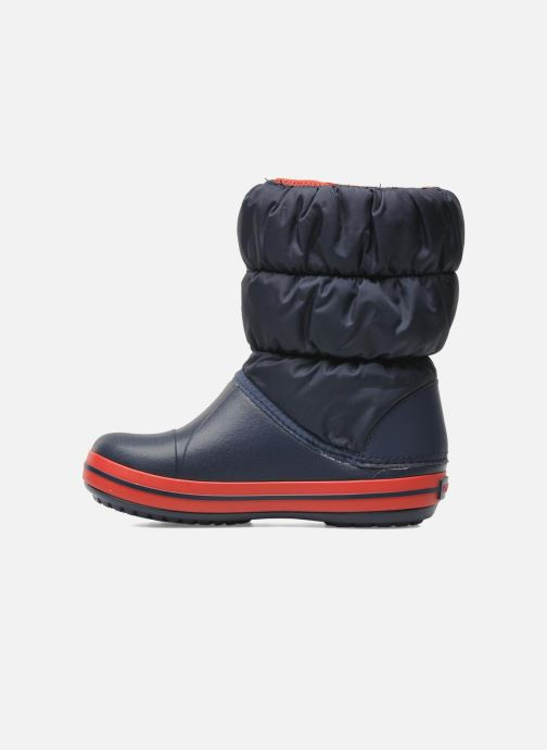 Botines  Crocs Winter Puff Boot Kids Azul vista de frente