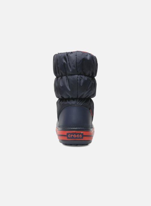 Boots en enkellaarsjes Crocs Winter Puff Boot Kids Blauw rechts