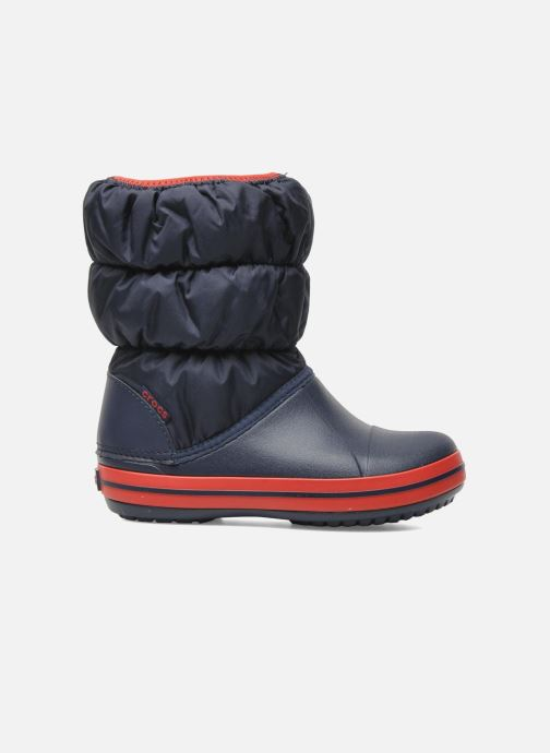 Botines  Crocs Winter Puff Boot Kids Azul vistra trasera