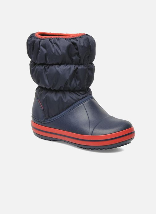 Ankle boots Crocs Winter Puff Boot Kids Blue detailed view/ Pair view