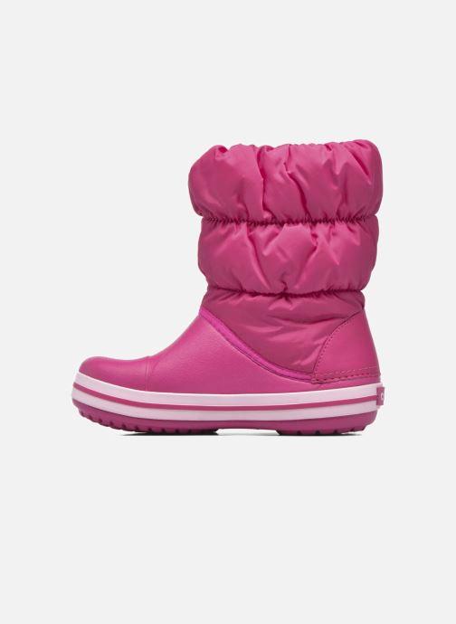 Botines  Crocs Winter Puff Boot Kids Rosa vista de frente