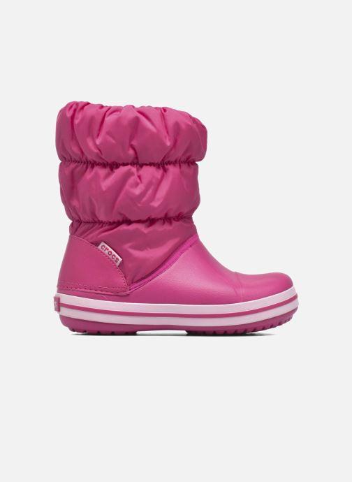 Botines  Crocs Winter Puff Boot Kids Rosa vistra trasera