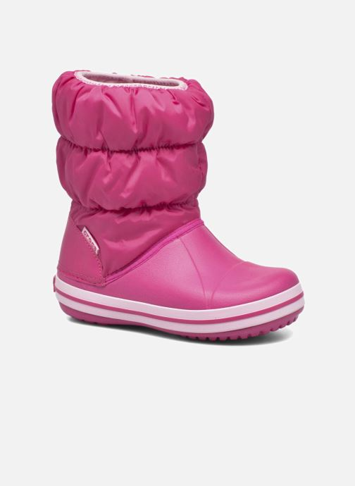 Botines  Crocs Winter Puff Boot Kids Rosa vista de detalle / par
