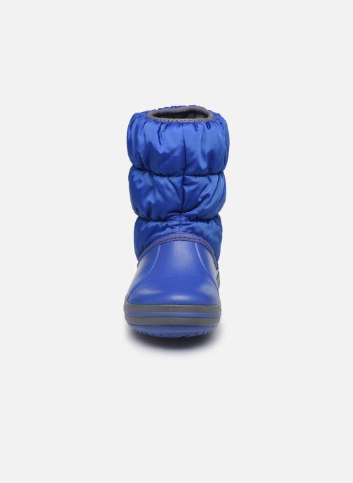 Bottines et boots Crocs Winter Puff Boot Kids Bleu vue portées chaussures