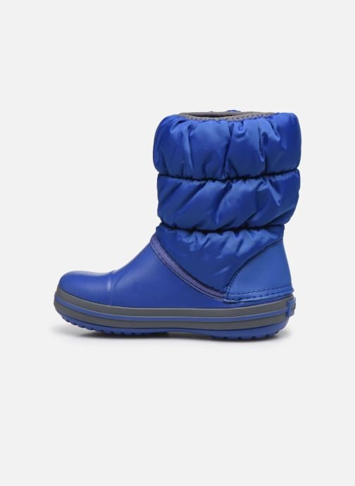 Botines  Crocs Winter Puff Boot Kids Azul vista de frente