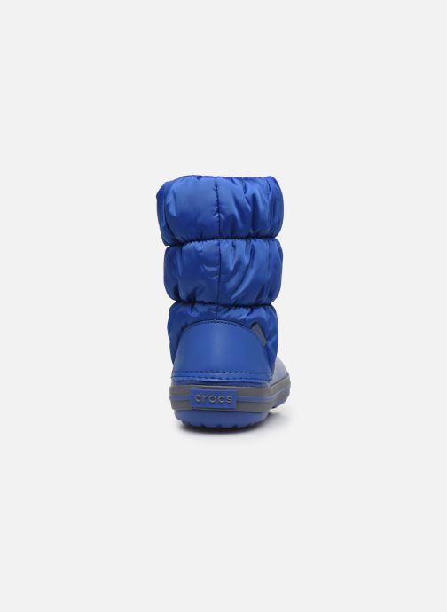 Bottines et boots Crocs Winter Puff Boot Kids Bleu vue droite