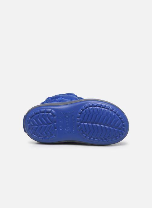 Botines  Crocs Winter Puff Boot Kids Azul vista de arriba