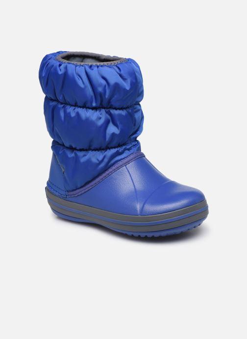 Ankelstøvler Crocs Winter Puff Boot Kids Blå detaljeret billede af skoene