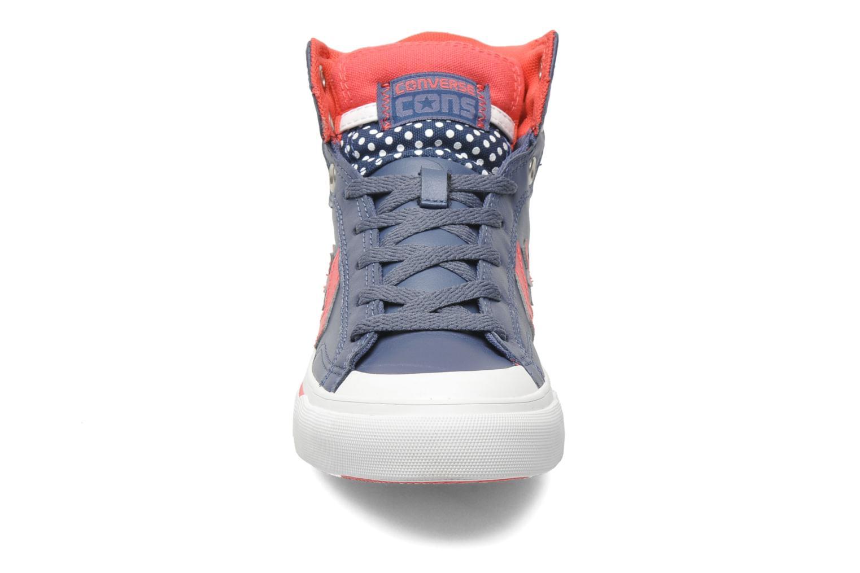 Baskets Converse Pro Blaze Polka Dot Leather Hi W Bleu vue portées chaussures