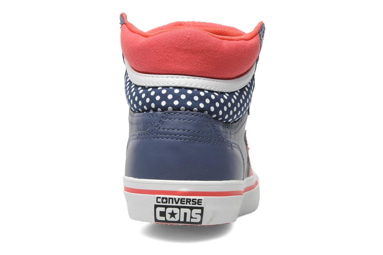 Baskets Converse Pro Blaze Polka Dot Leather Hi W Bleu vue droite