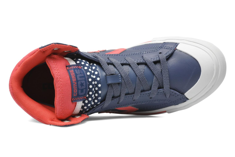 Baskets Converse Pro Blaze Polka Dot Leather Hi W Bleu vue gauche