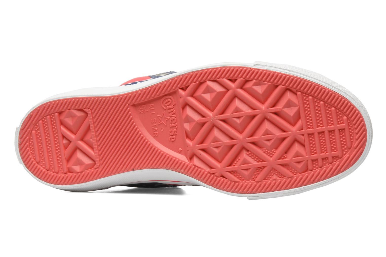 Baskets Converse Pro Blaze Polka Dot Leather Hi W Bleu vue haut