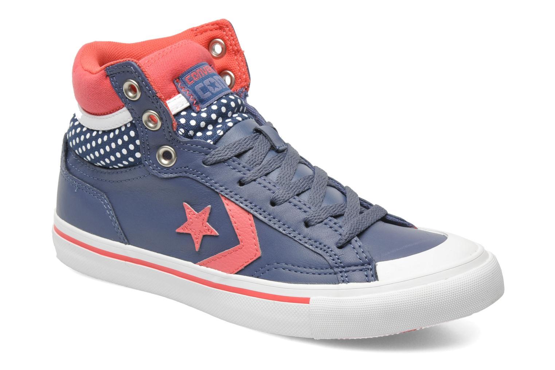 Baskets Converse Pro Blaze Polka Dot Leather Hi W Bleu vue détail/paire