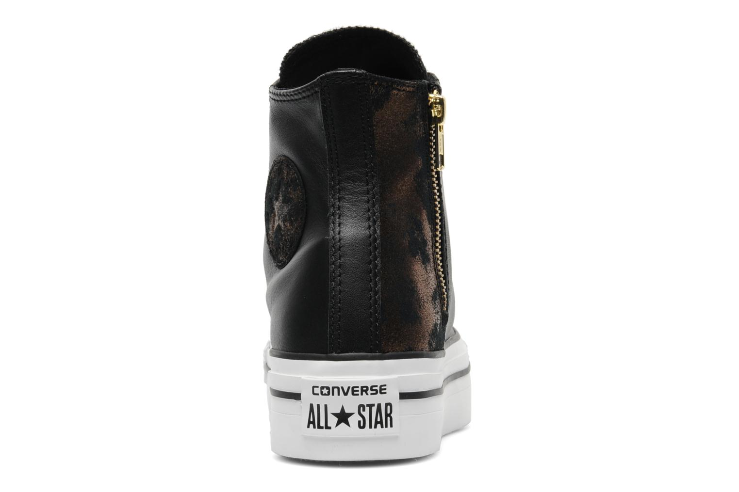 Trainers Converse Chuck Taylor All Star Fashion Leather Platform Hi W Black view from the right