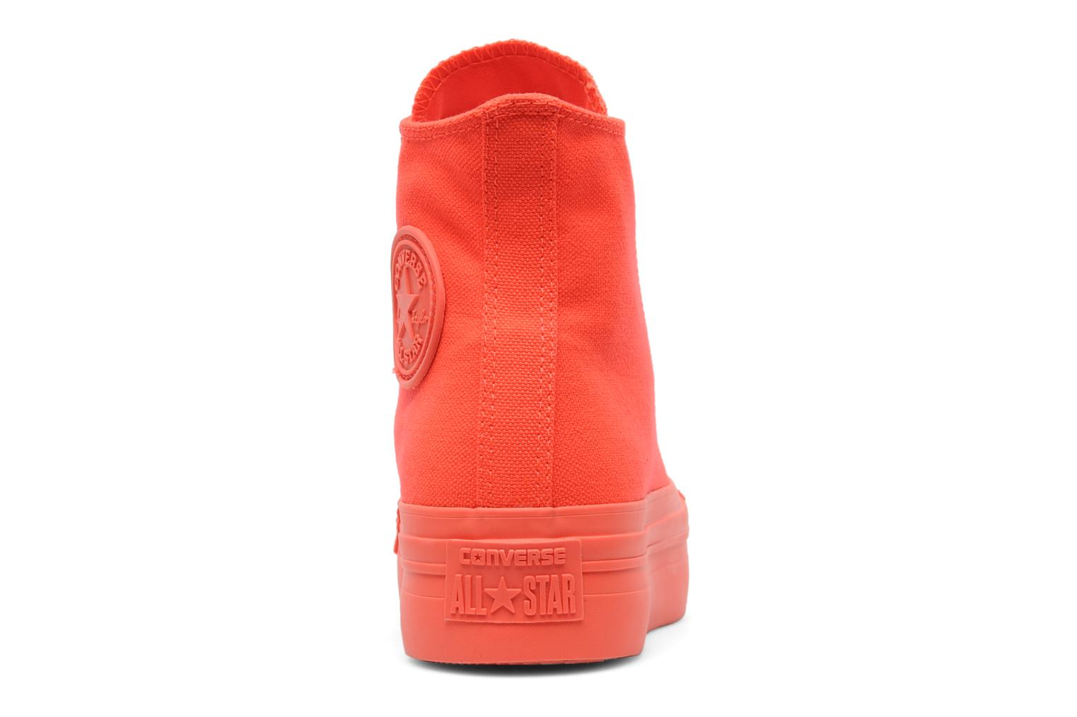 Trainers Converse Chuck Taylor All Star Mono Canvas Platform Hi W Orange view from the right