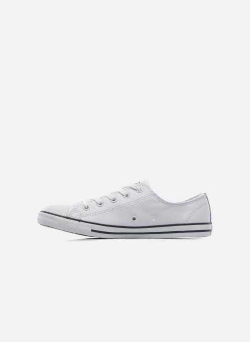Sneaker Converse All Star Dainty Cuir Ox W weiß ansicht von vorne