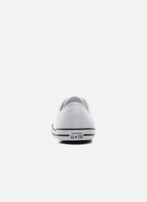 Trainers Converse All Star Dainty Cuir Ox W White view from the right