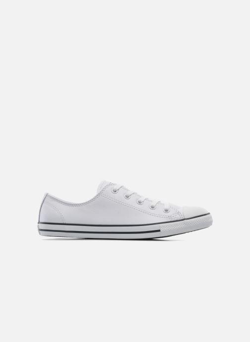 Sneaker Converse All Star Dainty Cuir Ox W weiß ansicht von hinten