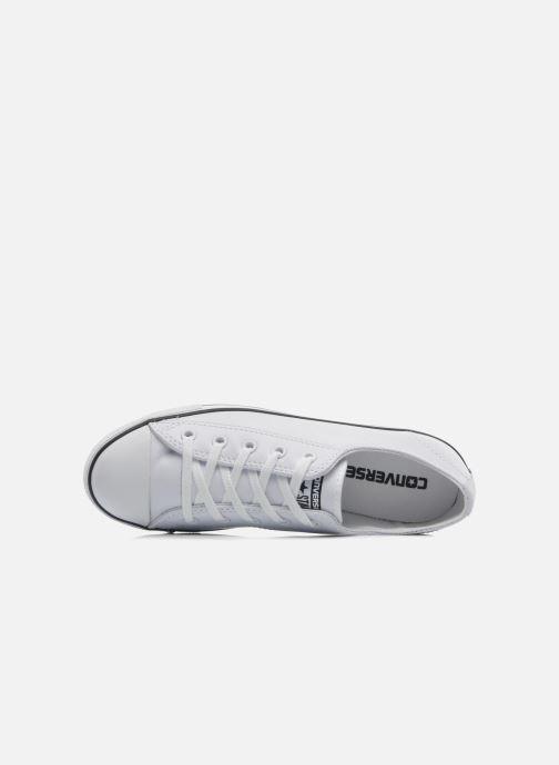 Sneaker Converse All Star Dainty Cuir Ox W weiß ansicht von links