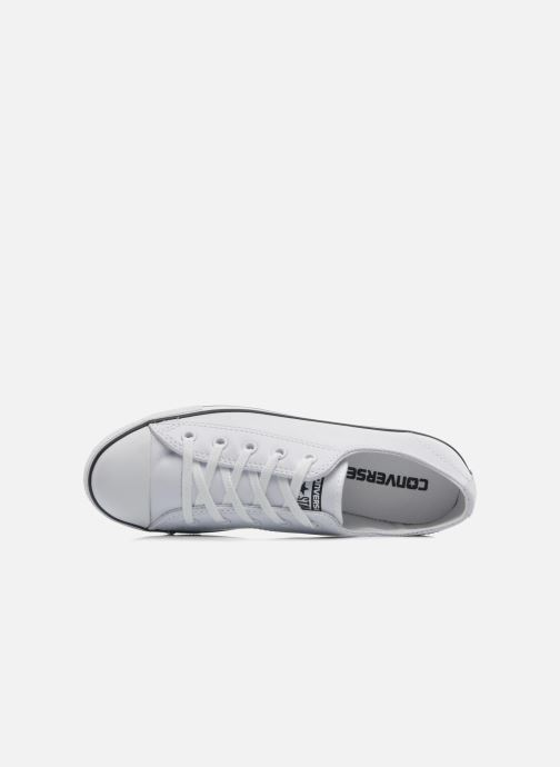 Trainers Converse All Star Dainty Cuir Ox W White view from the left