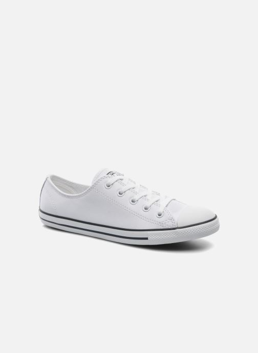 Trainers Converse All Star Dainty Cuir Ox W White detailed view/ Pair view