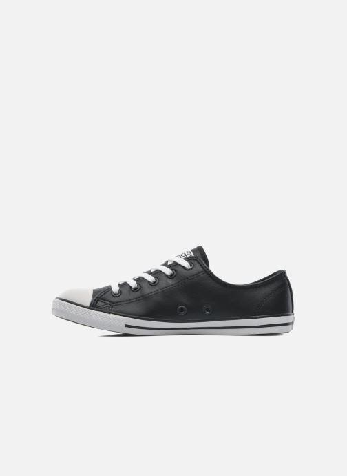 Sneaker Converse All Star Dainty Cuir Ox W schwarz ansicht von vorne