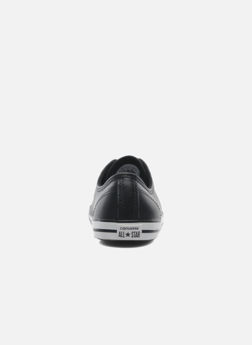 Sneaker Converse All Star Dainty Cuir Ox W schwarz ansicht von rechts