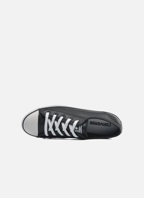 Sneaker Converse All Star Dainty Cuir Ox W schwarz ansicht von links