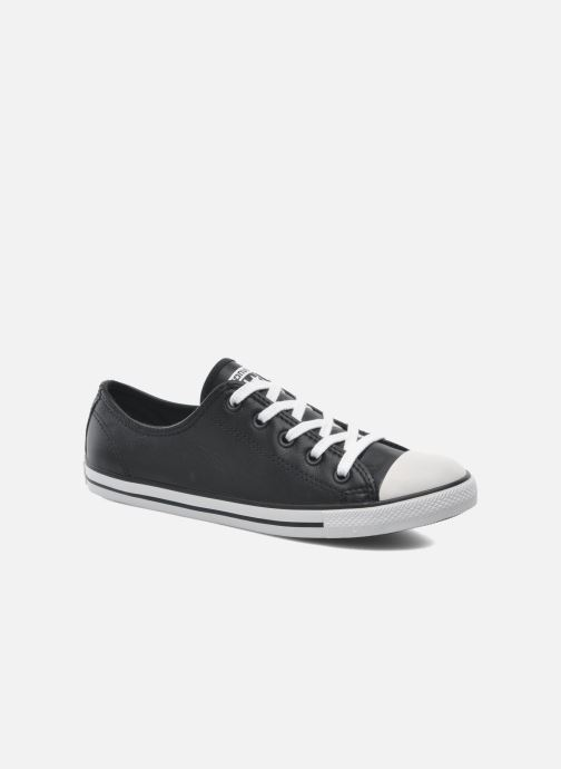 Sneakers Converse All Star Dainty Cuir Ox W Zwart detail