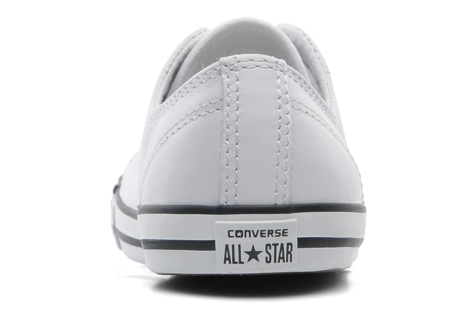 Baskets Converse All Star Dainty Cuir Ox W Blanc vue droite