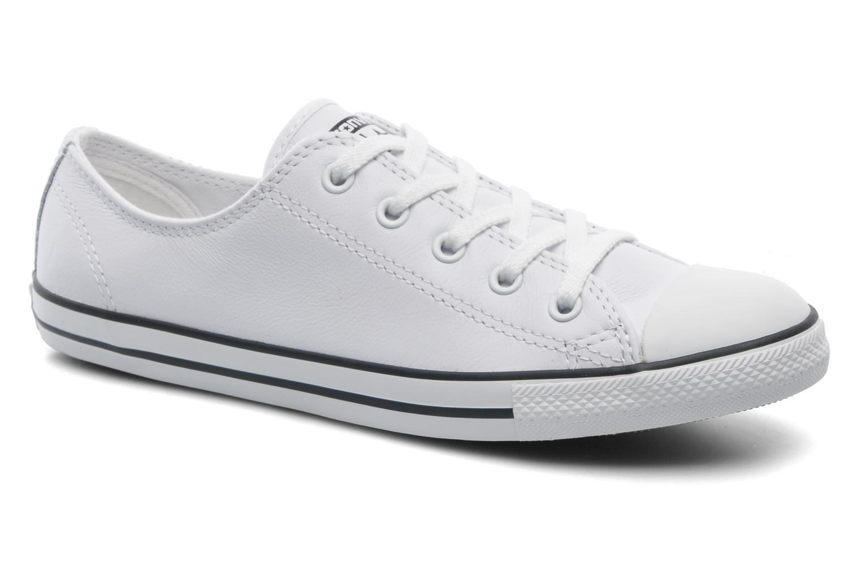 Cómodo y All bien parecido  Converse All y Star Dainty Cuir Ox W (Blanco) - Deportivas en Más cómodo b36d75
