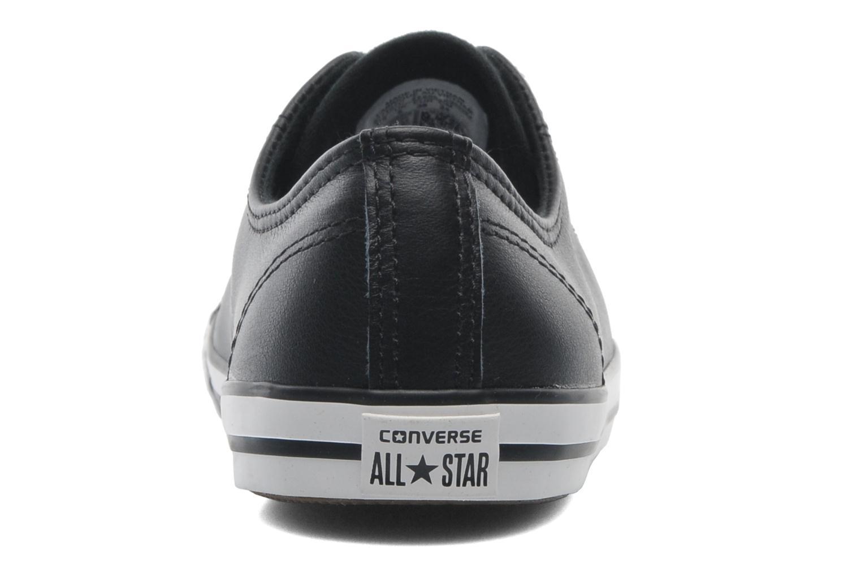 Baskets Converse All Star Dainty Cuir Ox W Noir vue droite