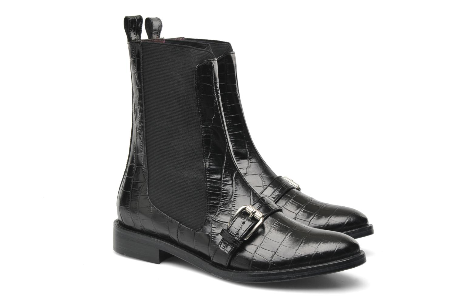 Bottines et boots Opening Ceremony Luxor Embossed Boot Noir vue 3/4