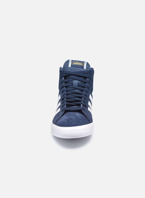 Sneaker adidas originals Basket Profi blau schuhe getragen