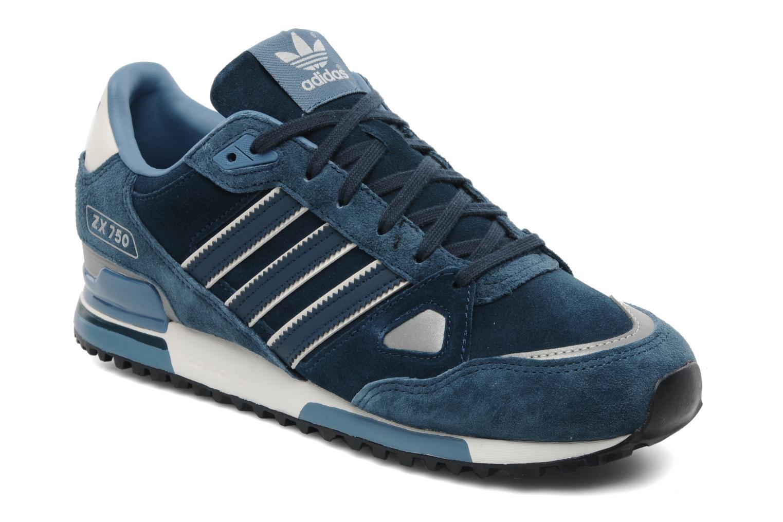Baskets Adidas Originals Zx 750 Bleu vue détail/paire