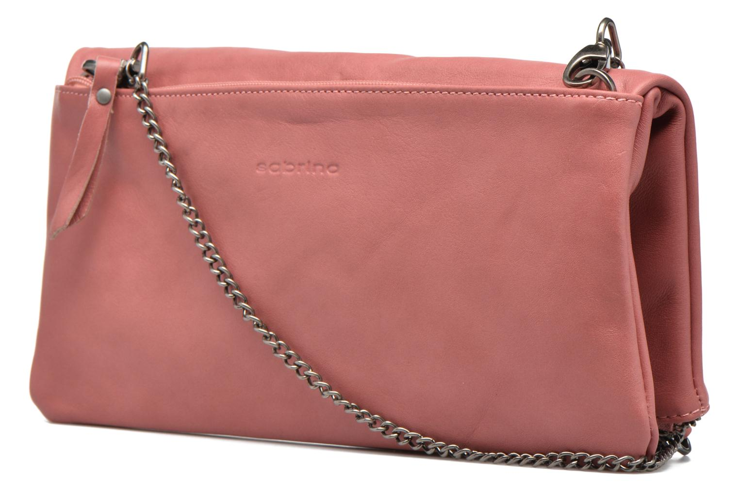 Handbags Sabrina Léonie Pink view from the right