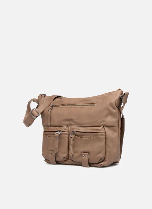 Handtaschen Sabrina Jeanne beige schuhe getragen