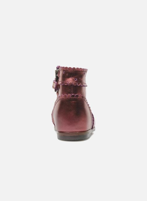 Ankle boots Little Mary Odeline Burgundy view from the right