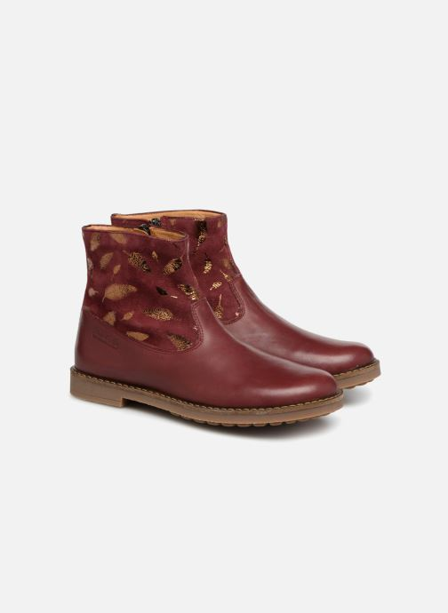 Ankle boots Pom d Api Trip Boots Burgundy 3/4 view