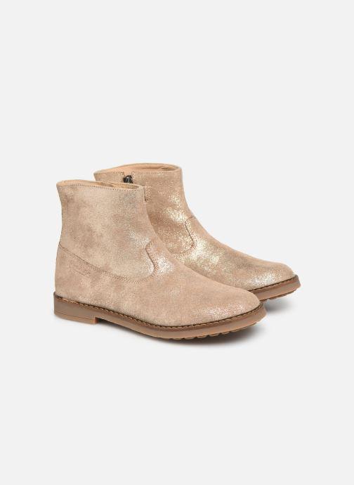 Ankle boots Pom d Api Trip Boots Beige 3/4 view