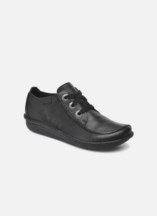 Lace-up shoes Clarks Funny Dream Black detailed view/ Pair view