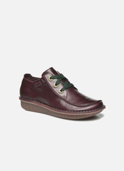 Chaussures à lacets Clarks Funny Dream Bordeaux vue détail/paire
