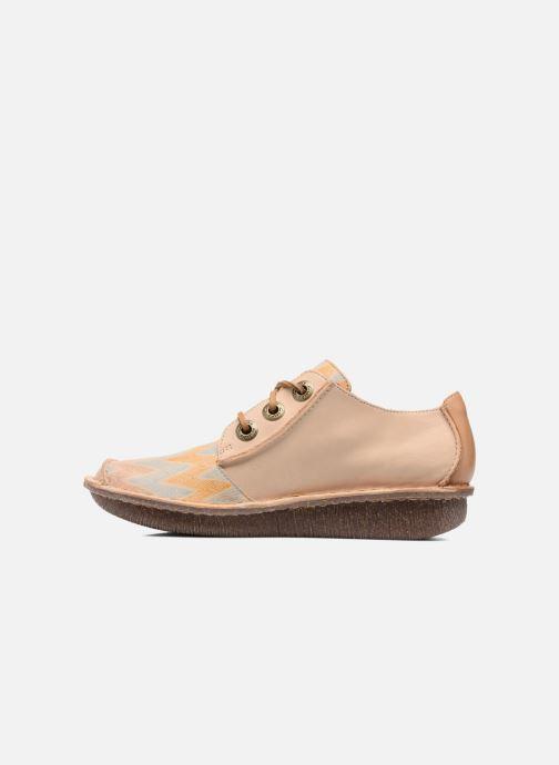 Zapatos con cordones Clarks Funny Dream Beige vista de frente