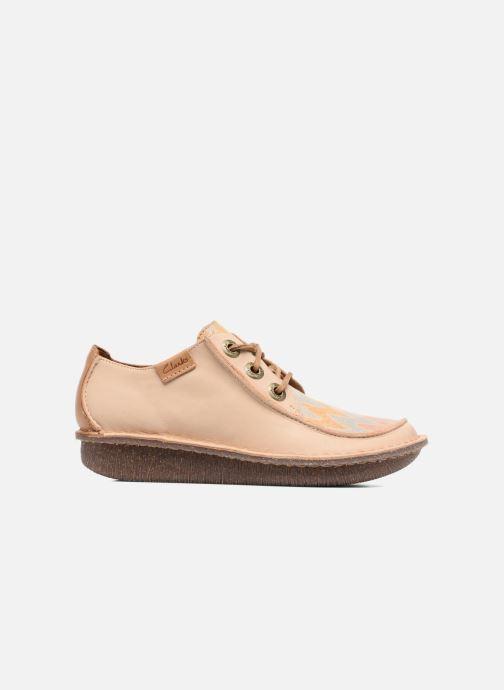 Chaussures à lacets Clarks Funny Dream Beige vue derrière