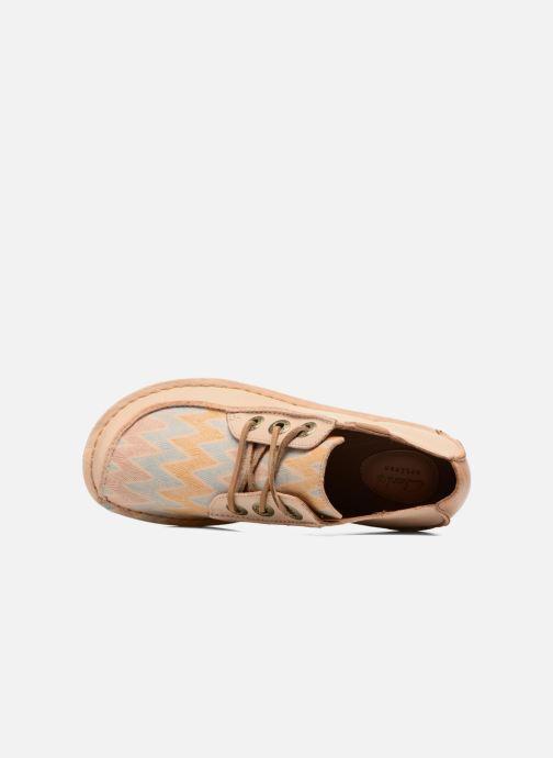 Chaussures à lacets Clarks Funny Dream Beige vue gauche