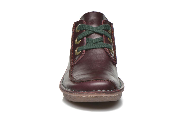 Chaussures à lacets Clarks Funny Dream Bordeaux vue portées chaussures