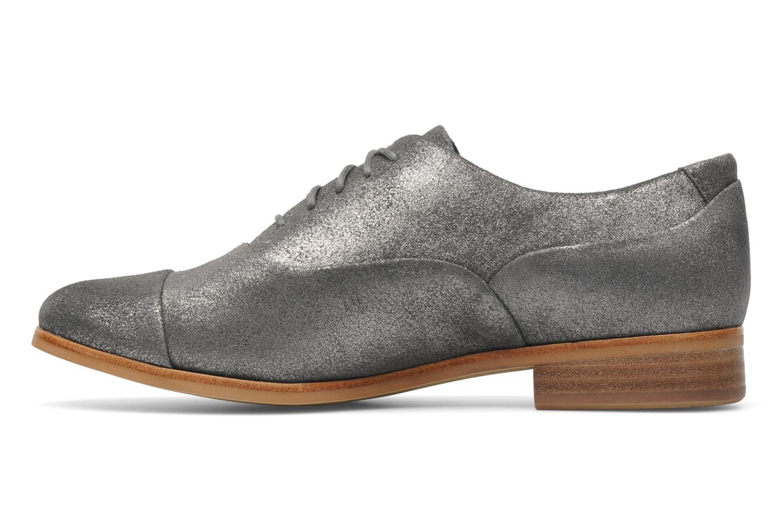 Chaussures à lacets Clarks Hotel Disco Argent vue face