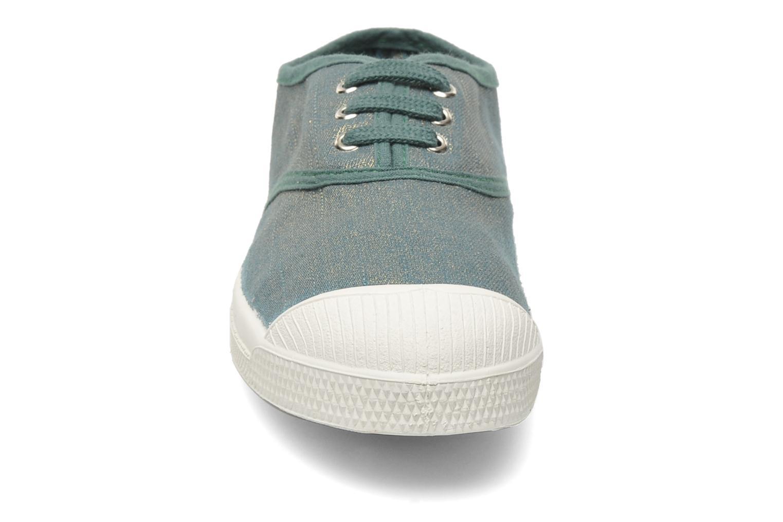 Baskets Bensimon Tennis Glossy E Vert vue portées chaussures